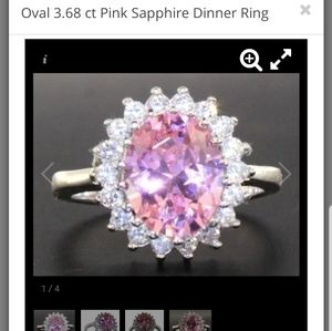 Jewelry - 3.68 ct Pink Sapphire sterling silver ring